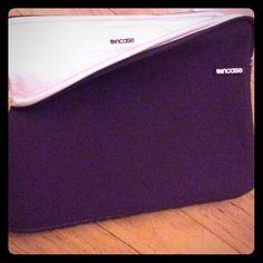"""Incase MacBook laptop case purple white soft 15"""" Purple and white in case mac book and Mac book pro case 15"""" Incase Accessories Laptop Cases"""