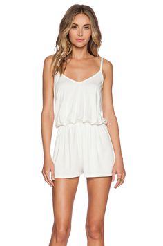 Rachel Pally Miles Romper in White | REVOLVE
