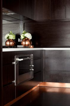 kitchen with copper accents: KICK PLATES!! What a great detail!!