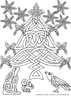 Living ESYR | FREE Printable: Solstice Tree Coloring page | Please Like √ Share√ Comment √ Tag √ Pin it √ and Print it  √