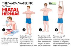 hiatal hernia warm water fix More