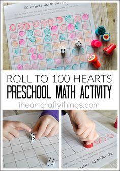 I HEART CRAFTY THINGS: 100 Hearts Preschool Math Activity