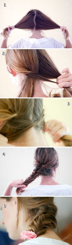 Fishtail tutorial  Clic on the image to read the instructions