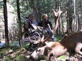 Kelsey and Chris with her 13 point red stag......