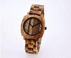 Valentines SALE Personalized Wooden Watch. Mens Wood Watch. Mens Wooden Watch. Watch. Mens Gift. Wooden Watches. Tietle Watch. Zebra Wood Wa