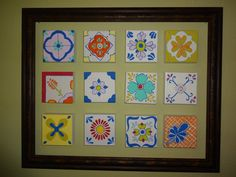 """DIY painted Mexican """"tiles"""" (on 5x5 canvases)"""