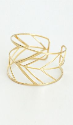Chevron Cuff - Gold...great for FSU!