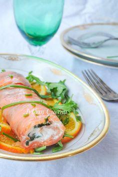 Tronchetto di salmone e rucola antipasto facile vickyart arte in cucina