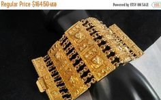 Now On Sale 3 Inch Wide Egyptian Revival  King Tut Style Cuff