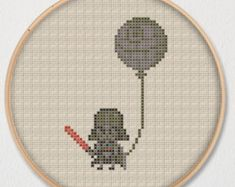 OMG. Stitch Han Solo and Princess Leia and their famous quote I love you / I know reimagined for the iPhone-era.  This cross stitch pattern uses 16 colors, has a stitch count of 792, and dimensions of 50 x 50 stitches. It measures approximately: 2.8 x 2.8 on 18-ct. 3.2 x 3.2 on 16-ct. 3.6 x 3.6 on 14-ct.  Based on original artwork by: https://twitter.com/pixeloy87  You get a PDF document of the cross stitch pattern above. Youll need a PDF viewer to view it. If you dont hav...