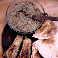 Baba Ghannouj - Egyptian version of an eggplant dish eaten all over the Middle East.