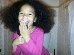 Nieces natural hair combed out! Beauty Regime, Hair Comb, Her Hair, Natural Hair Styles