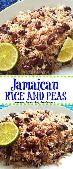 If you are looking for a recipe that utilizes coconut cream, then you found it. Make sure you are using real coconut cream and not the milk, otherwise JAMAICAN RICE AND PEAS Jamaican Cuisine, Jamaican Dishes, Jamaican Recipes, Vietnamese Recipes, Oxtail Recipes, Carribean Food, Caribbean Recipes, Carribean Rice And Beans, Jamaican Rice And Beans