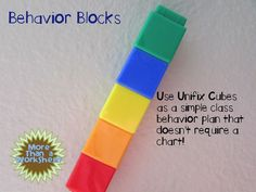 Use Unifix Cubes as