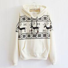 Deer Hooded Sweater