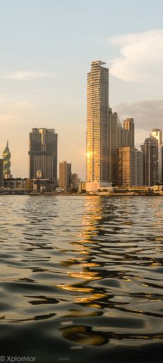 Cityscape Beacon.  Panama City, Panama (Twisting tower to left is Revolution Tower) #xplormor #panamacity