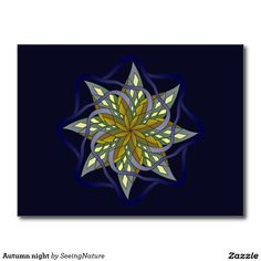 Get your hands on a customizable Geometric postcard from Zazzle. Find a large selection of sizes and shapes for your postcard needs! Postcards, Brooch, Shapes, Autumn, Night, Fall, Brooches, Greeting Card