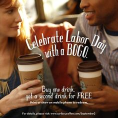 FACEBOOK COUPON $$ BOGO FREE Drink at Caribou Coffee – TODAY ONLY (9/2)!