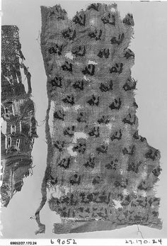 Fragment Date: 13th–14th century Geography: Egypt, Fustat Culture: Islamic Medium: Linen; silk embroidery Accession Number: 27.170.24