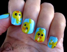 Chicky Nails. Find out where I got my inspiration from at quirkylacquerista.wordpress.com