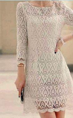 Шикарное ажурное платье. Схемы