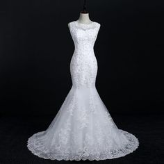2c481133d5e92 Fansmile New Arrival Lace Mermaid Wedding Dresses 17 Plus Size Bridal  Alibaba Wedding Gowns Real Photo Free Shipping FSM-144M