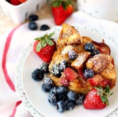 Baked Strawberry Bagel French Toast Casserole #recipe via Kim's Cravings http://www.yummly.co/#recipe/Baked-Strawberry-Bagel-French-Toast-Casserole-2006733