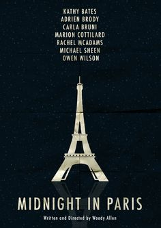 """MINIMALIST """"MIDNIGHT IN PARIS"""" POSTER ARTWORK BY ÖMER ALDEMİR"""