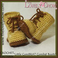 "Ravelry: Baby Combat Boots ""Little ComBrat Combat Boots"" pattern by Elizabeth Alan"