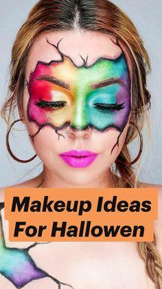 Face Paint Makeup, Eye Makeup Art, Eyeshadow Makeup, Yellow Eyeshadow, Pink Eyeliner, Hair Makeup, Creative Eye Makeup, Colorful Eye Makeup, Crazy Makeup