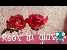 ▶ Diy, Hoe maak je een roos in een glas? Leuke Kamer decoratie - YouTube