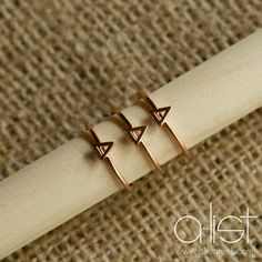 Tri Delta Stack Ring   Available in Silver, Gold and Rose Gold. Rings are adjustable - the perfect gift for your big/little! #delta #tridelta #sorority #jewelry www.alistgreek.com