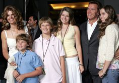 May 19, 2005: Maria and Arnold with their four kids: Christopher, Patrick, Katherine, and Christina.