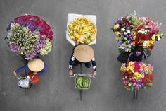 Dutch photographer Loes Heerink has launched a Kickstarter campaign to publish a high-quality photo book featuring Hanoi's colorful street vendors. Hidden Art, Street Vendor, History Activities, China China, Diy Crafts Hacks, Food News, People Of The World, Culture Travel, Aerial Photography