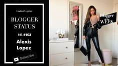 Alexis Lopez  - Leather Leggings - Faux Leather Jeans - Haul OOTD Faux Leather Jeans, Leather Leggings, Leather Jacket, Cool Style, Ootd, Leggings Fashion, Youtube, Studded Leather Jacket, Leather Jackets
