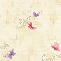 Home sweet home vinyl wallpaper 45003-10 wallpaper butterflies beige Wallpapers P+S International Home Sweet Home