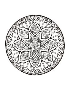 Mandala 473, Mystical Mandala Coloring Book, Dover Publications