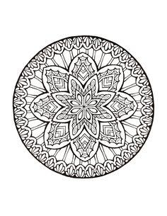 Mandala 473, Mystical Mandala Coloring Book, Dover Publications