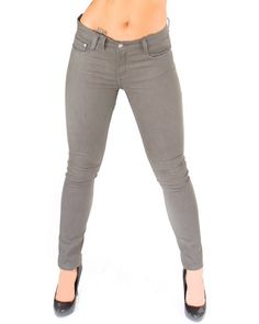 Bullet Blues Doll Charbon - Grey Skinny Jeans Made in USA