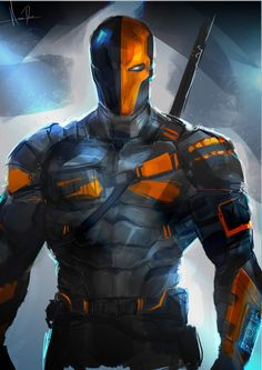 """detective-comics: """"""""Deathstroke by Rose Davies """" """" Dc Comics Characters, Dc Comics Art, Marvel Dc Comics, Dc Deathstroke, Deathstroke The Terminator, Deathstroke Cosplay, Batman Universe, Comics Universe, Univers Dc"""