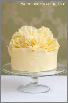 White Chocolate Ruffle Cake