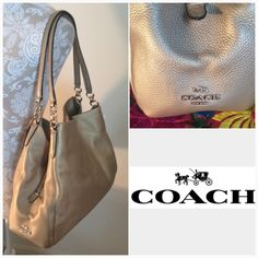 COACH LEATHER GOLD NWT Authentic Coach leather Phoebe shoulder bag. Perfect new condition. Tag is attached. Genuine leather                                                                                                    No trades Coach Bags Shoulder Bags