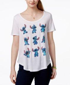 Hybrid Juniors' Disney Stitch Graphic T-Shirt