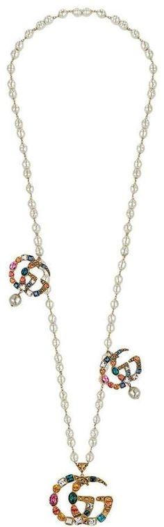 195b0feb41e Gucci Crystal Double G necklace Gucci
