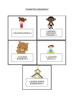 Tee oma laulupussi ilmaiseksi: vinkkejä ja valmiita kortteja - Pyykkivuorikiipeilijä. Ideoita, joita et lue muualta Teaching Kindergarten, Preschool, Finnish Language, Nursery School, Literature, Songs, Activities, Education, Comics