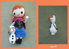 Olaf from Frozen ( 4inches tall) - Free Amigurumi Crochet Pattern here: http://sjfan97.deviantart.com/journal/Olaf-Crochet-Pattern-475518832