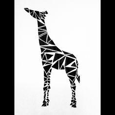 geometric giraffe tattoo - Поиск в Google