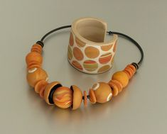 Necklace and cuff bracelet Summer Marbles by ST-Art-Clay, via Flickr
