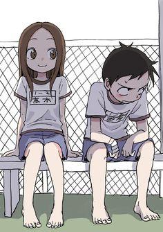 Takagi y Nishikata Manga Anime, Art Manga, Anime Art, Anime Kawaii, Cute Anime Pics, Anime Love, Chibi, Anime Style, Animes Wallpapers