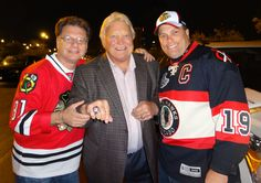 With bobby hull after a game